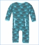 Kickee Pants, Cedar Brown Bear Print Fitted Coverall