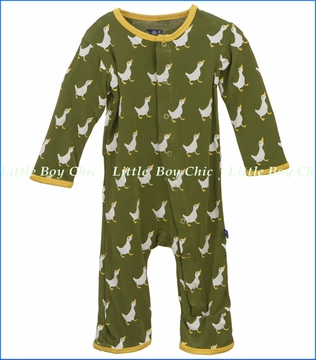 KicKee Pants, Duck Coverall in Moss (c)