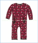 Kickee Pants, Fitted Coverall in Crimson Busy Beaver