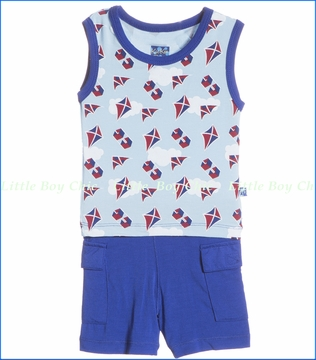 KicKee Pants, Flying Kites Tank and Cargo Short Set (c)