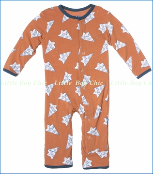 Kickee Pants, Paper Airplanes Coverall in Copper