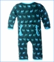 Kickee Pants, Pine Moose Print Fitted Coverall