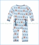 Kickee Pants, Pond Crabbies Print Fitted Coverall in Blue