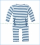 Kickee Pants, Salt Sea Stripe Print Fitted Coverall in Blue