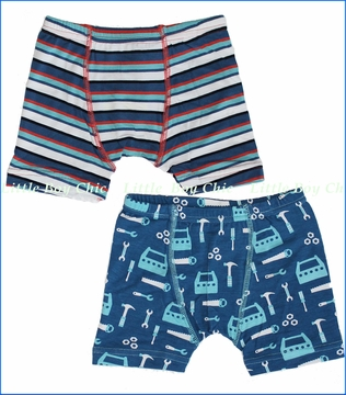 KicKee Pants, Tools and Goldfish Stripe Boxer Briefs - 2 Pack (c)