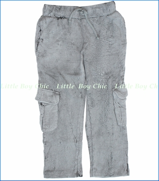La Miniatura, Lightning Wash French Terry Pants in Concrete (c)