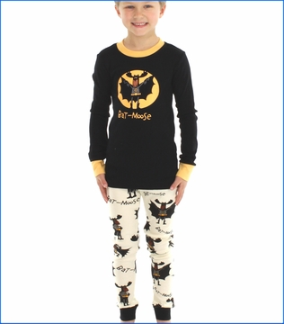 Lazy One, Bat-Moose Pajama in Black
