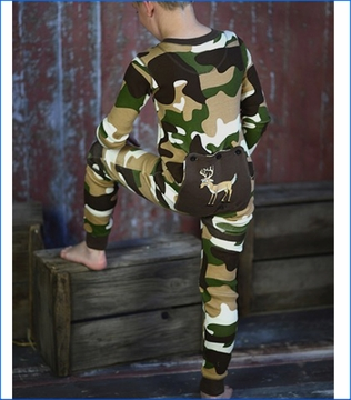 Lazy One, Buck Naked Camo Flap Jack PJ in Brown (c)