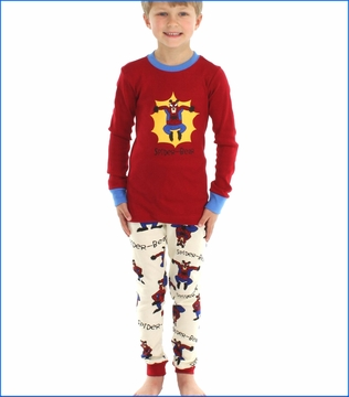 Lazy One, Spider-Bear Pajama in Red