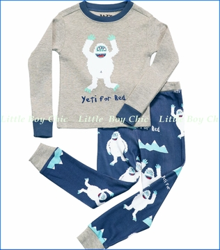 Lazy One, Yeti For Bed Pajama in Grey