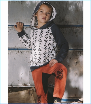 Mini & Maximus, Arrows Pullover with Face It Knit Pants