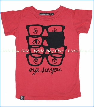 Mini & Maximus, Eye See You Organic Pocket Tee (c)