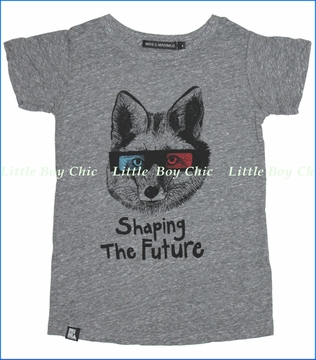 Mini & Maximus, Sharing the Future Tee in Heather Grey