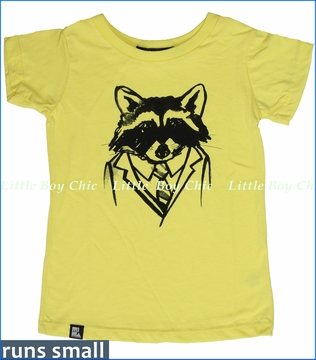 Mini & Maximus, Taking Care of Business Tee in Yellow (c)