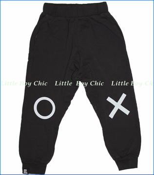 Mini & Maximus, Tic Tac Drop Crotch Pants in Vintage Black