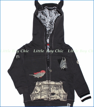 Mini Shatsu, Bat and Robin Zip Hoodie