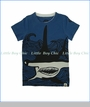 Mini Shatsu, Hammerhead Shark T-Shirt in Blue