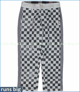 Mini Shatsu, Quilted Checker Pants (c)