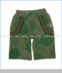 Mini Shatsu, Tropical Forest Suspenders Shorts in Green
