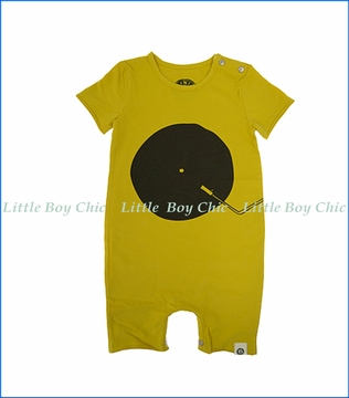 Mini Shatsu, Vinyl DJ Romper in Gold