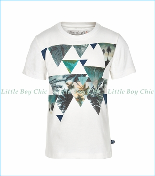 Miny Mo, Kirk Palm Triangles T-Shirt in White