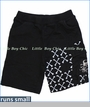 Monster Republic, Cross Bones French Terry Shorts in Black (c)