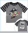 Monster Republic, Pirate Mr Potato Head Tee in Grey (c)