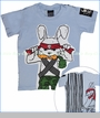 Monster Republic, Rambo Bunny Tee in Blue (c)