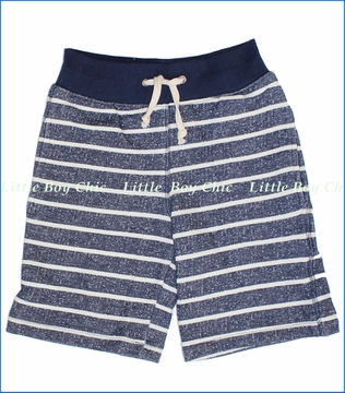 Mulberribush, Navy Stripe French Terry Shorts (c)
