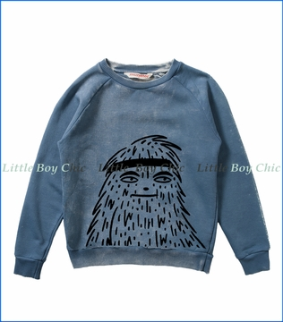 Munster, Fangs Raglan Sweatshirt in Blue