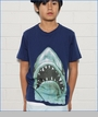 Munster, Jaws Tee in Navy (c)