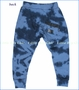 Munster, Puffer Tie-Dyed French Terry Pants in Cobalt