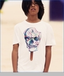 Munster, Skull Pop Tee in White (c)