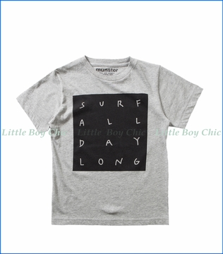 Munster, Surf All Day T-Shirt in Grey Marle