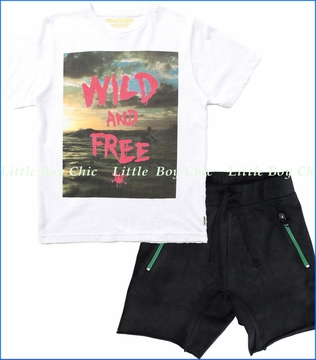 Munster, Wild and Free Tee with Duffer Shorts