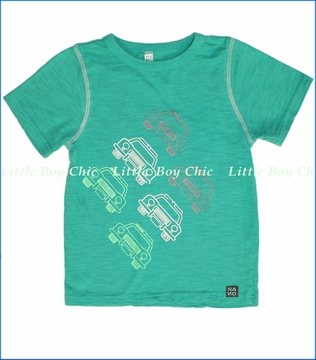 Nano, Cars Slub Tee in Teal (c)