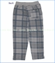 Nano, Frency Terry Plaid Pant in Elephant