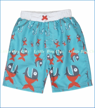 Nano, Piranha Swim Short in Blue (c)