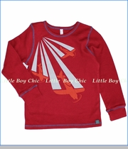 Nano, Planes Thermal Tee in Deep Red (c)