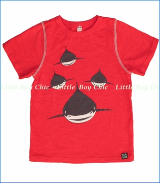 Nano, Sharks Slub Tee in Red (c)