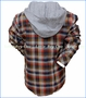 Noruk, Flannel Shirt with Hoodie in Multicolored