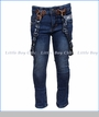 Noruk, Jeans with Removable Straps in Blue