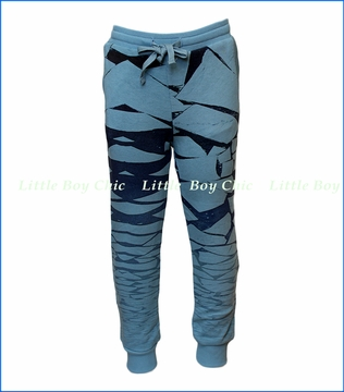 Paper Wings, Cracked Organic Track Pants in Blue