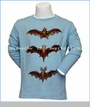 Paper Wings, L/S Bats Organic T-Shirt in Blue