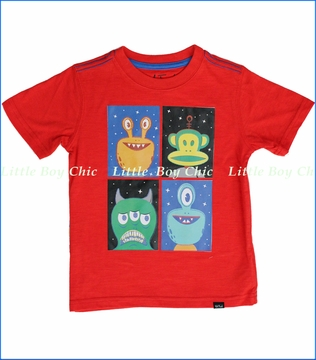 Paul Frank, Space Heads Tee in Red (c)