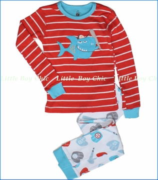 Petit Lem, Baseball Shark Pajama Set (c)