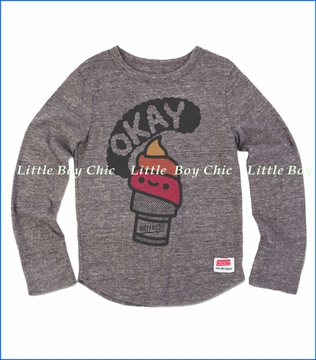 Prefresh, Okay Cone LS T-Shirt in Grey