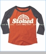 Prefresh, Stoked Raglan Tee in Orange