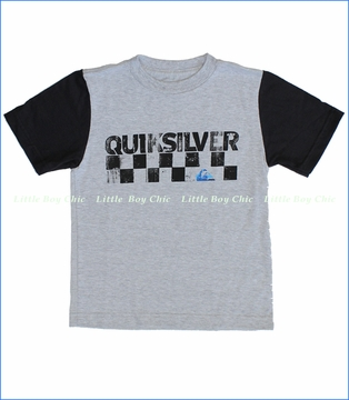 Quiksilver, Checkers Tee in Athletic Heather (c)