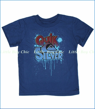 Quiksilver, Go Crazy Tee in Estate Blue (c)
